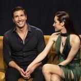 Gianmarco y Adara, juntos en el sofá de 'El tiempo del descuento'