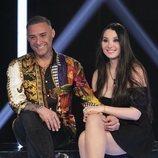 Dinio y su novia Milena en la Gala 5 de 'El tiempo del descuento'