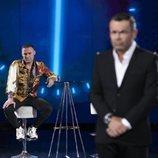 DInio en plató tras ser expulsado, en la Gala 5 de 'El tiempo del descuento'