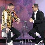 Dinio y Jorge Javier Vázquez en la Gala 5 de 'El tiempo del descuento'