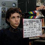 Aura Garrido en el rodaje de la cuarta temporada de 'El Ministerio del Tiempo'