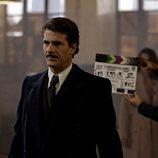 Rodolfo Sancho en el rodaje de la cuarta temporada de 'El Ministerio del Tiempo'