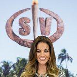 Lara Álvarez, sonriente en la presentación de 'Supervivientes 2020'