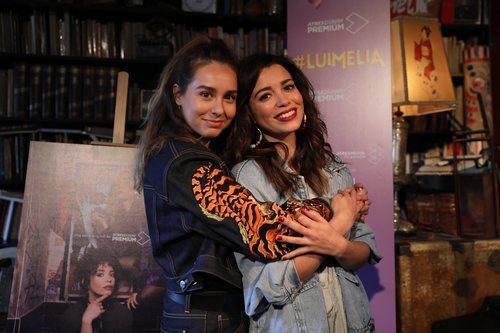 Paula Usero y Carol Rovira en la presentación de '#Luimelia'