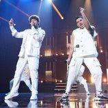 Jesús y Bruno, en su actuación de la Gala 5 de 'OT 2020'