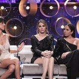 Sofía Suescun, Irene Rosales y Anabel Pantoja, muy serias en la final de 'El tiempo del descuento'