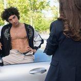 Valerio sin camiseta en la temporada 3 de 'Élite'