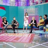 Nuria Marín y los colaboradores de 'La habitación del pánico' en el plató del programa