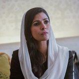 Tasneem Qureshi (Nimrat Kaur), muy seria en la octava temporada de 'Homeland'