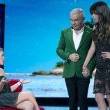 Jorge Javier Vázquez charla con Sofía Suescun y Gloria Camila en la Gala 1 de 'Supervivientes 2020'