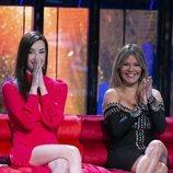 Adara e Ivonne Reyes, emocionadas en la Gala 1 de 'Supervivientes 2020'