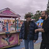 Pau Gimeno y Fernando González Molina en el rodaje de 'Paraíso'