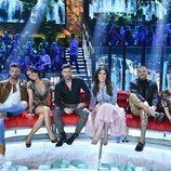 Rubén, Mari Cielo Pajares, Albert, Isabel Rábago, Fabio y Gloria Camila, en 'Supervivientes 2020: Tierra de nadie'