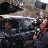 Tristán Ulloa en el rodaje de 'La caza. Tramuntana'