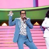Mario Vaquerizo y las Nancys Rubias son Los Manolos en la Gala 8 de 'Tu cara me suena 8'