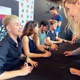 Hugo, Anaju, Rafa y Gèrard, en las firmas de discos de 'OT 2020'