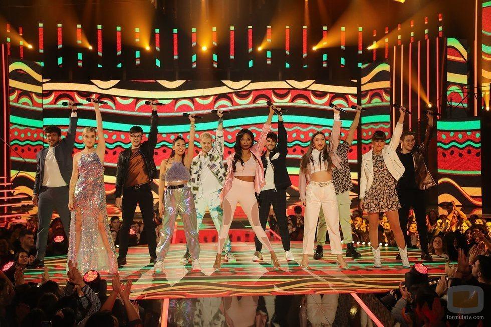 """Los concursantes de 'OT 2020' cantan """"Waka waka (Esto es África)"""" en la Gala 7"""