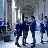 Los protagonistas de 'El Internado: Las Cumbres' en el inicio del rodaje