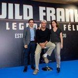 Antonio Ruiz, Frank Cuesta y Carolina Cubillo en la presentación de 'Wild Frank: El legado de Félix'