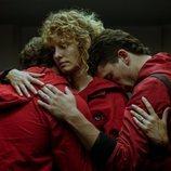 Miguel Herrán, Esther Acebo y Jaime Lorente en la temporada 4 de 'La Casa de Papel'