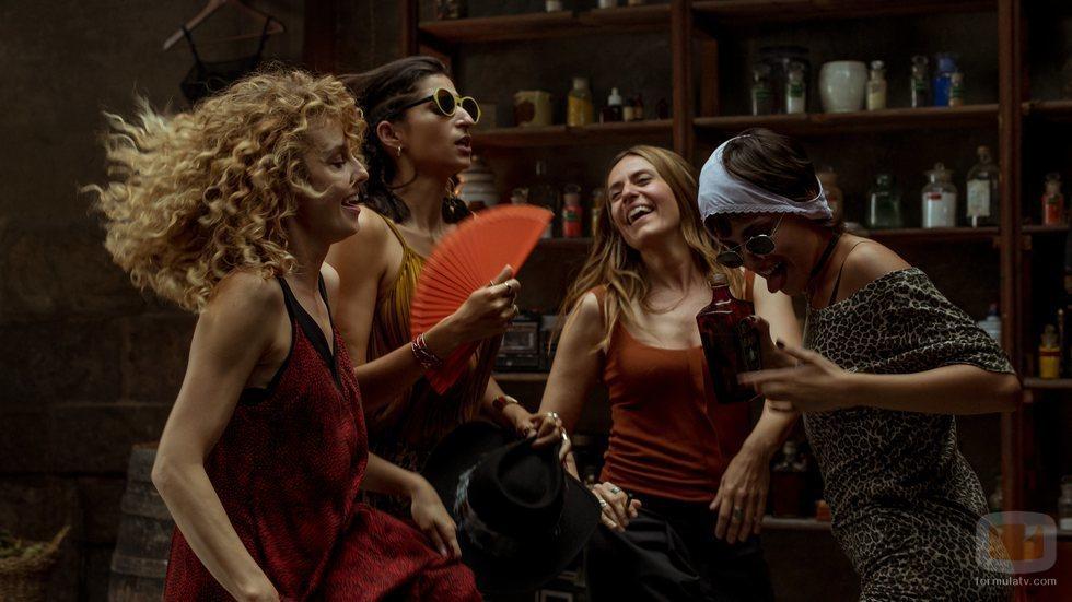 Las protagonistas de 'La Casa de Papel' en una fiesta de la Parte 4
