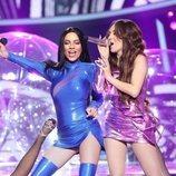 María Isabel y Ana Mena son Natti Natasha y Thalía en la Gala 9 de 'Tu cara me suena 8'