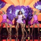 "Nia canta ""Mujer latina"" en la Gala 8 de 'OT 2020'"