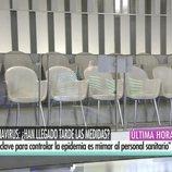 El plató de 'El programa de Ana Rosa', sin público por el coronavirus