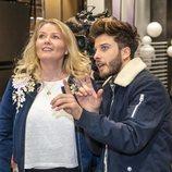 Nicoline Refsing y Blas Cantó en el primer ensayo para Eurovisión 2020