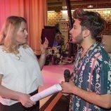 """Nicoline Refsing y Blas Cantó en el primer ensayo de """"Universo"""" para Eurovisión 2020"""