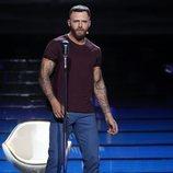 Jorge González es Maroon 5 en la Gala 10 de 'Tu cara me suena 8'