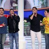 Gemeliers junto a Andy y Lucas en la Gala 10 de 'Tu cara me suena 8'