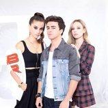 Rebeca, Samuel y Carla en la temporada 3 de 'Élite'