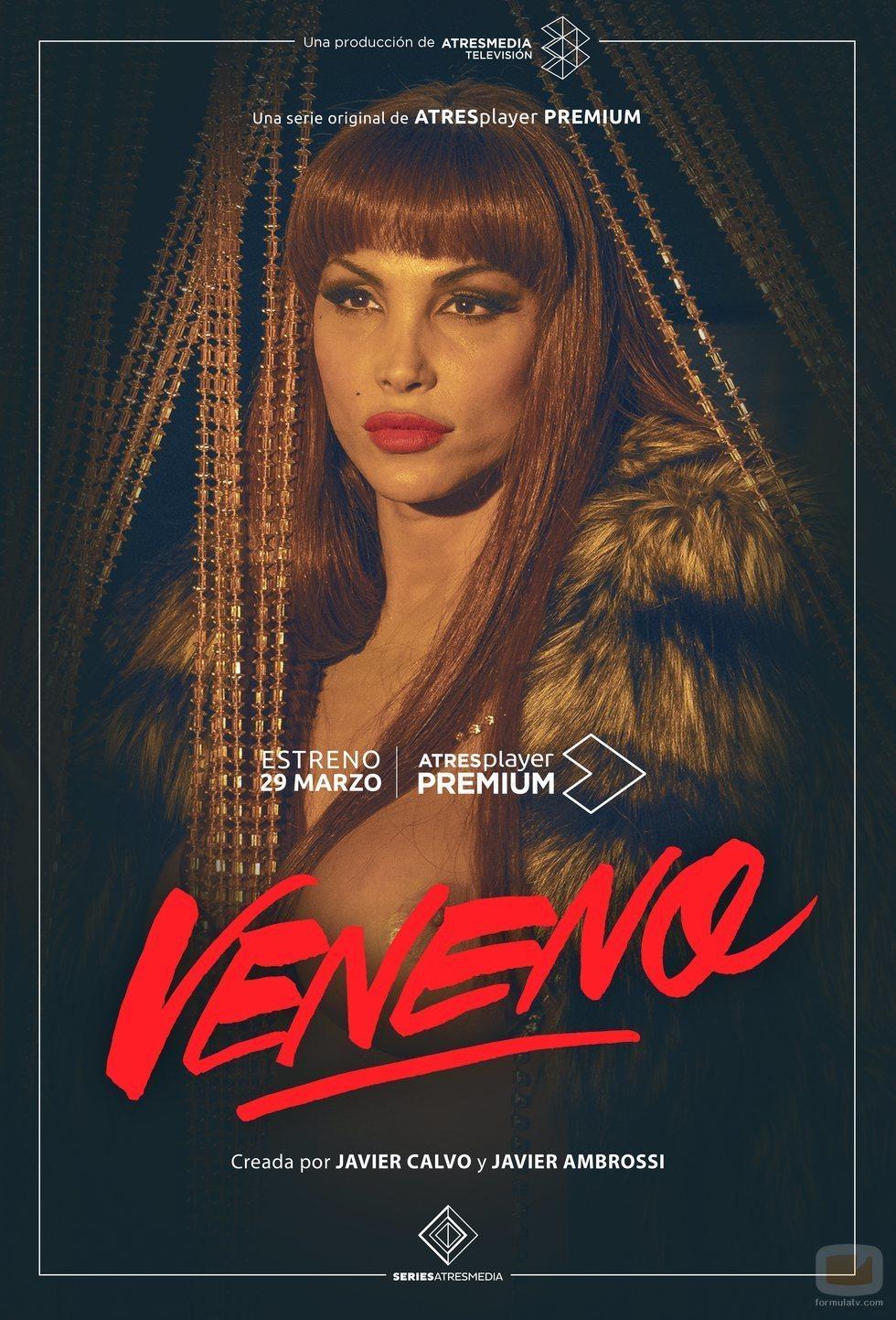Daniela Santiago en el cartel promocional de 'Veneno'