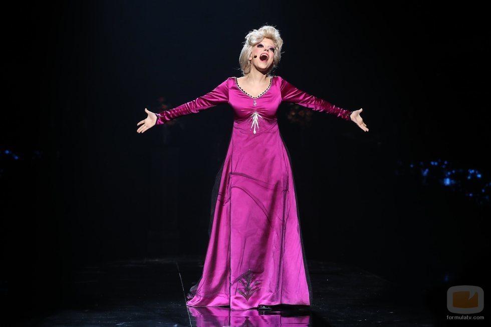"""Nerea Rodríguez imita a Elsa de """"Frozen"""" en la Gala 11 de 'Tu cara me suena 8'"""