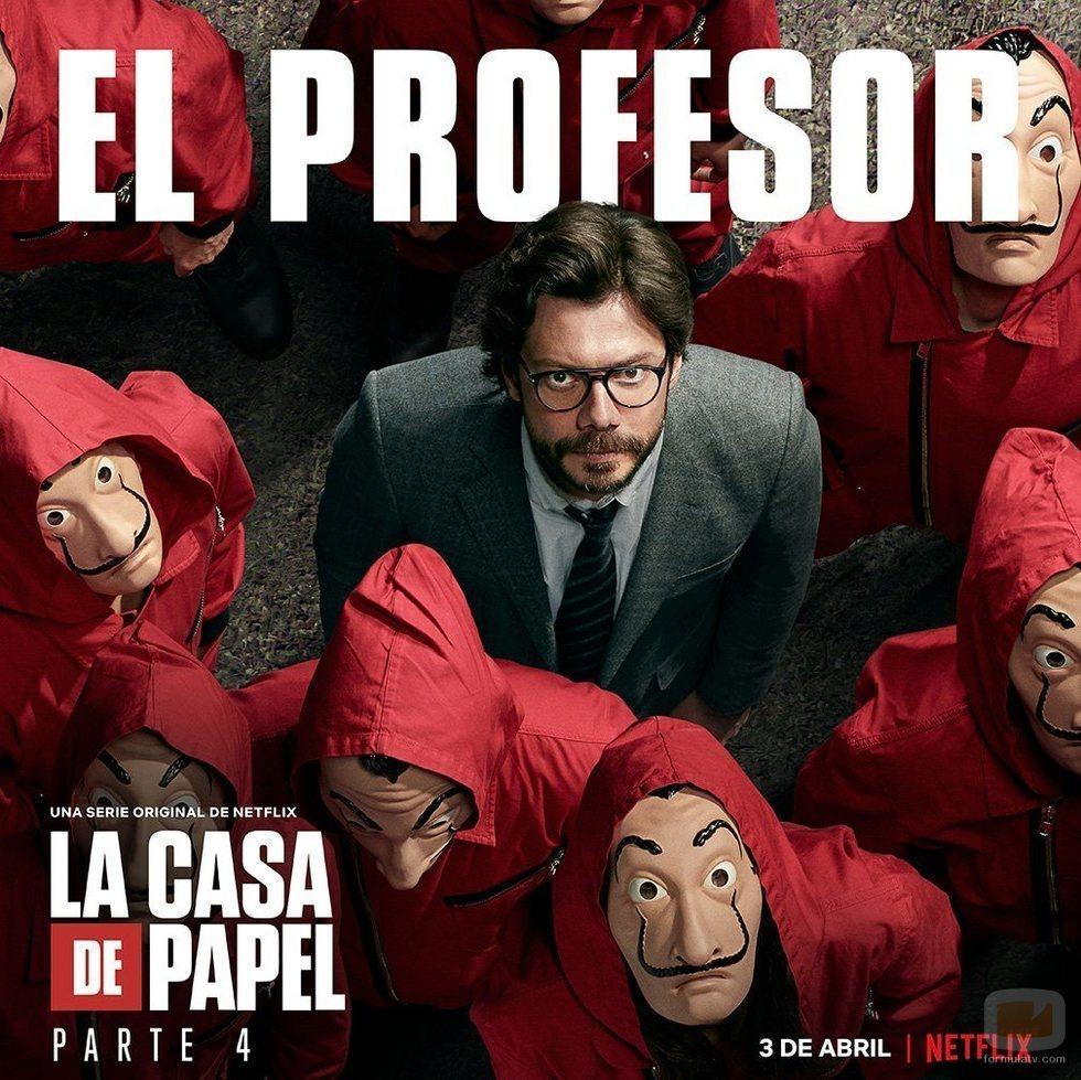 Póster de El Profesor para la cuarta parte de 'La Casa de Papel'