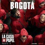Póster de Bogotá para la cuarta parte de 'La Casa de Papel'