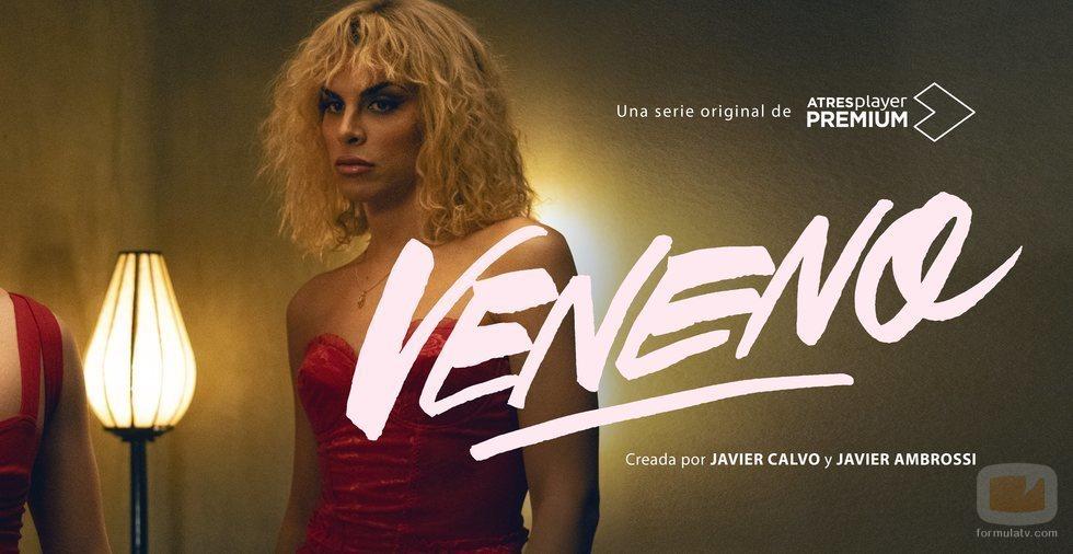 Jedet en un cartel promocional de 'Veneno', la serie de Los Javis