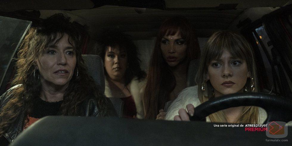Faela, Machús, Cristina Ortiz y Paca La Piraña en 'Veneno'