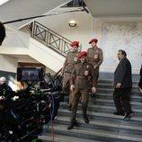 Vestíbulo de la sede de 'El Ministerio del Tiempo' en la cuarta temporada