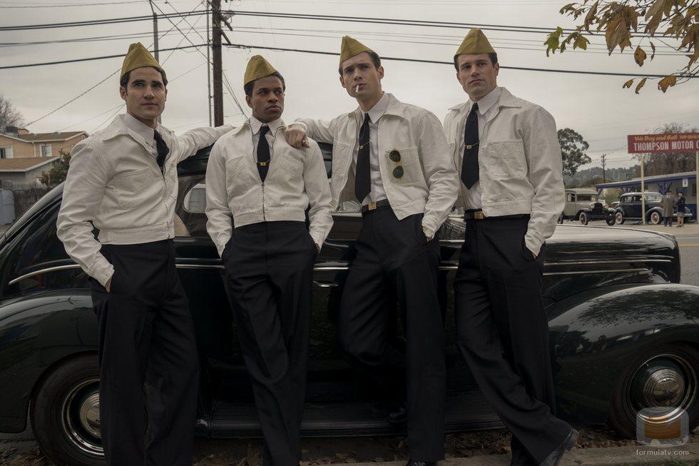 Darren Criss, Jeremy Pope y Jake Picking, entre el reparto de 'Hollywood'
