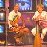 Ismael Beiro es entrevistado por Mercedes Milá en la final de 'GH 1'