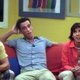 Iván, Israel y Silvia en el salón de 'GH 1'