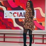 Alexia Rivas posa en el plató de 'Socialité'