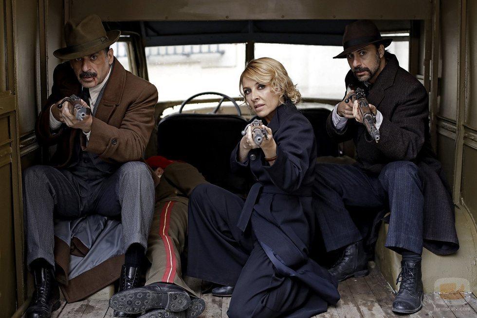 Alonso, Irene y Pacino en la cuarta temporada de 'El Ministerio del Tiempo'