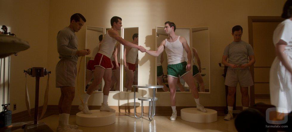 Rock Hudson (Jake Picking) y Jack Castello (David Corenswet) en 'Hollywood'