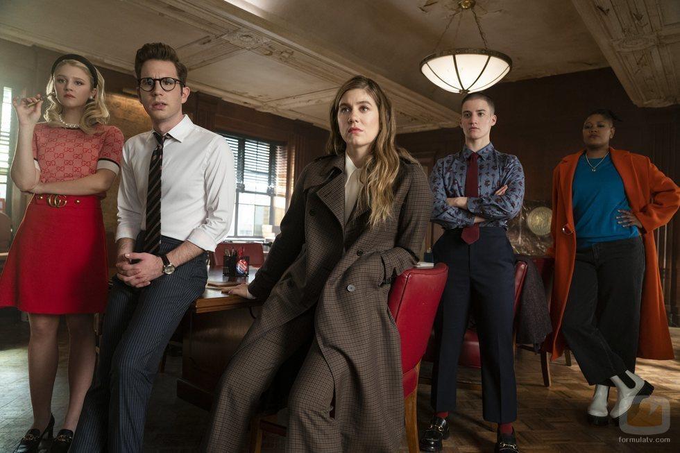 Alice, Payton, McAfee, James y Skye en la temporada 2 de 'The Politician'
