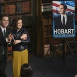 Payton Hobart se presenta a senador de Nueva York en la temporada 2 de 'The Politician'