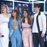 Samantha, Maialen, Anaju y Flavio en la Gala 11 de 'OT 2020'