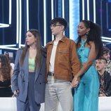 Eva, Flavio y Nia, en la Gala Final de 'OT 2020'